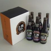 【送料無料】上馬ビール 330mlBHD 6本セット★無ろ過 生酵母入の地ビール★【有機農産物加工酒類】