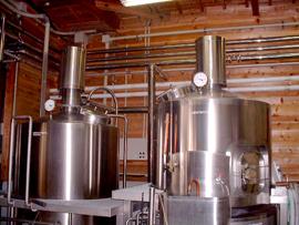 ビールの仕込み釜(ドイツ製)
